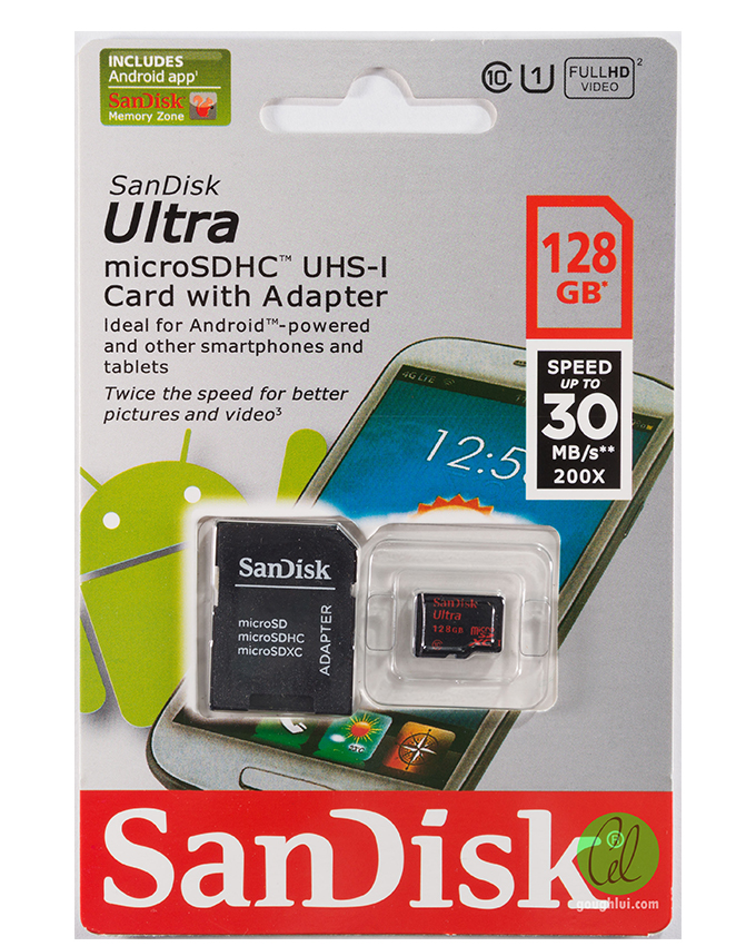 SANDISK ULTRA 128GB MICRO-SD CARD WITH ADAPTER